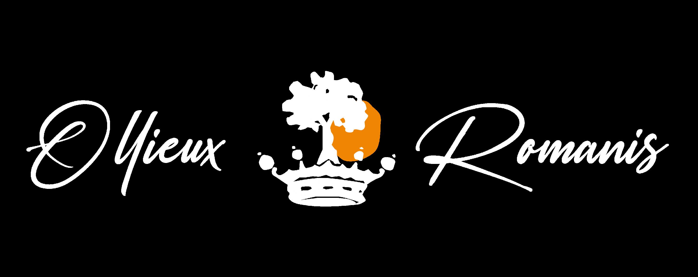 Le logo Ollieux Romanis en digital, en blanc